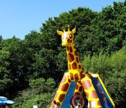 Structure gonflable au parc