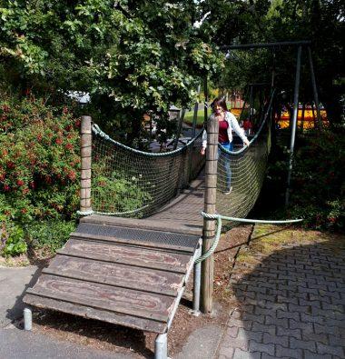 Pont de singe dans le parc