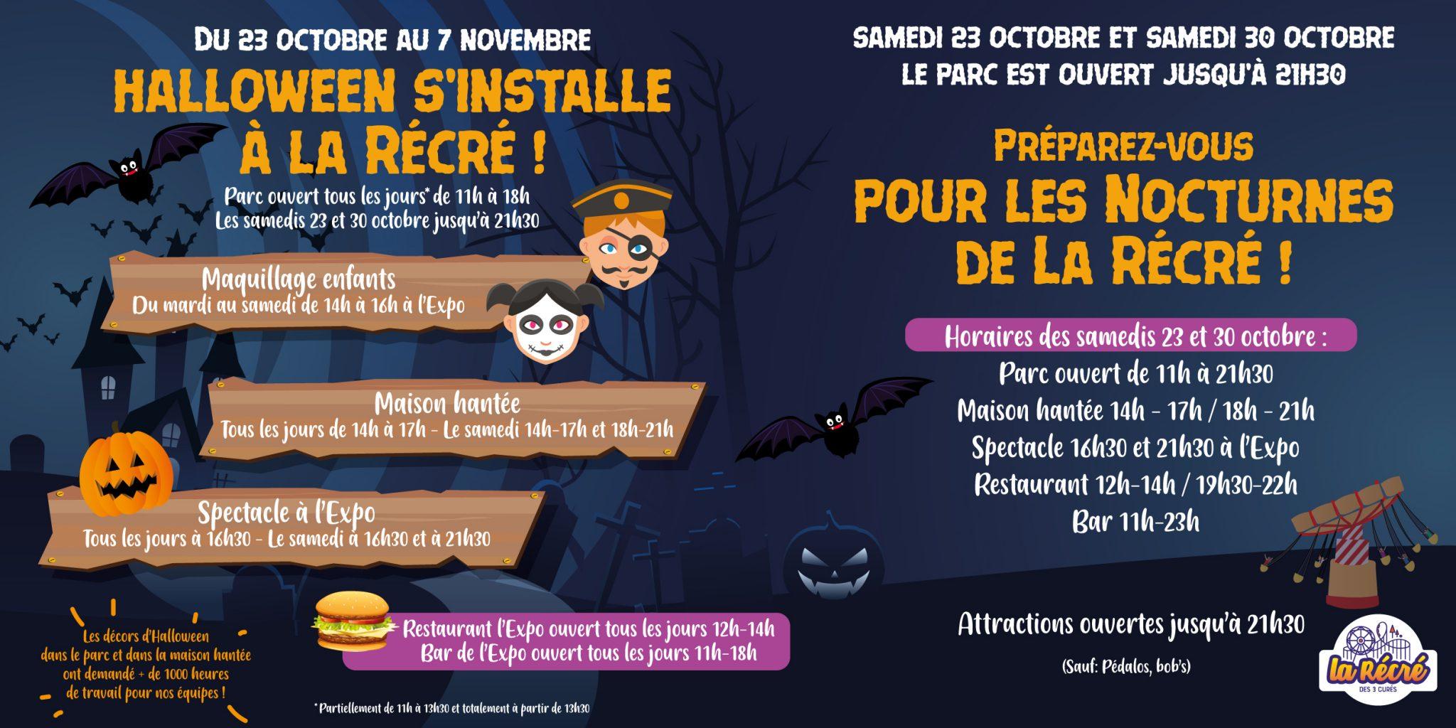 Halloween La Récré des 3 Curés